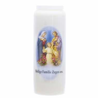 1x witte noveenkaars heilige familie 6 x 18 cm 9 dagen