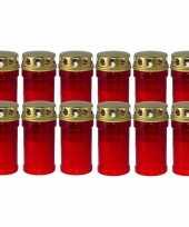 12x rode grafkaarsen gedenklichten met deksel 7 x 14cm 2 5 dag